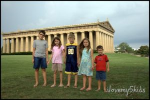Road Trip to the Parthenon ilovemy5kids