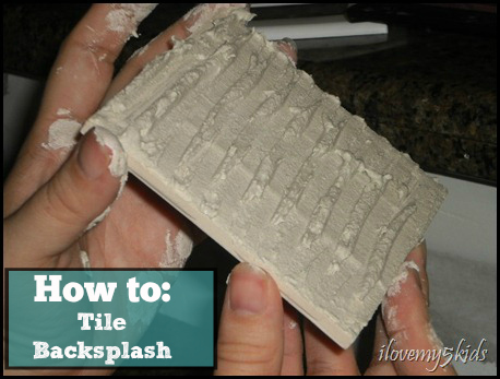 How to tile backsplash
