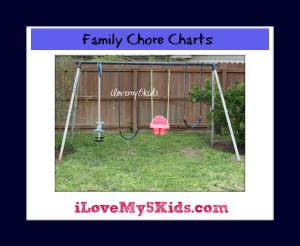 Organizing Family Chore Charts