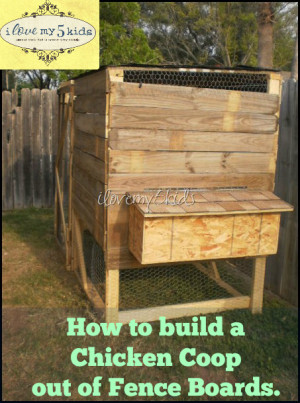 How to build a Chicken Coop out of Fence Boards