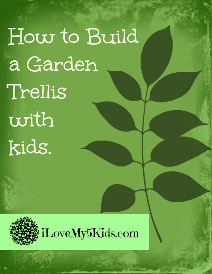How to build a garden trellis with kids
