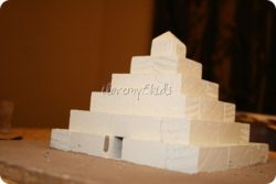 Homemade Egyptian School Projects: A Pyramid