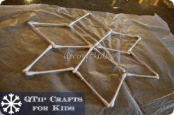 Crafts with Q-tips and lessons from it
