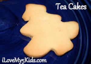 Tea Cakes Recipe @loving5kids