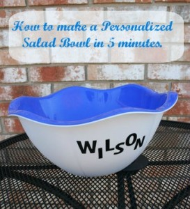 DIY personalized bowl
