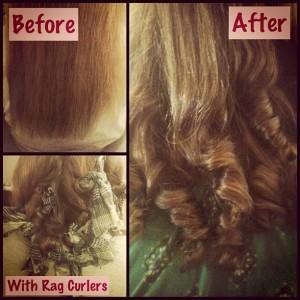 DIY Rag Curls
