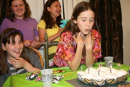 Zebra Birthday Cupcakes