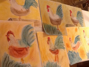 Rooster Pastels by Creating a Masterpiece ilovemy5kids