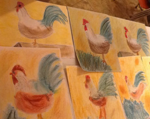 Roosters Pastels ilovemy5kids.com