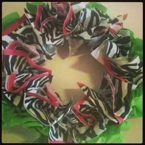 Zebra Napkin Wreath