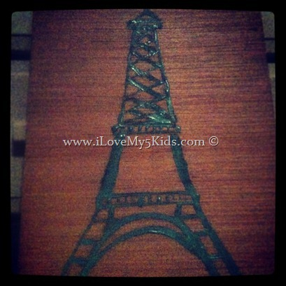 Eiffel Tower for Girl's Room