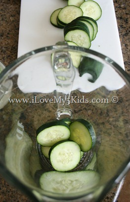 Cucumber Water ilovemy5kids