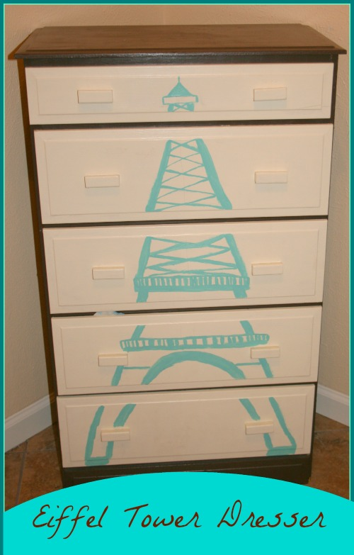 Eiffel Tower Dresser Makeover