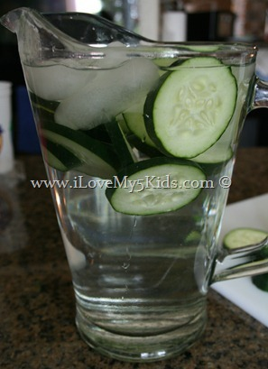 Iced Cucumber Water @loving5kids