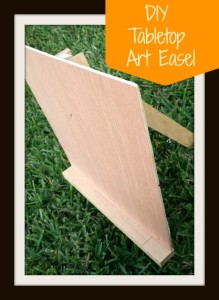 DIY Tabletop Art Easel