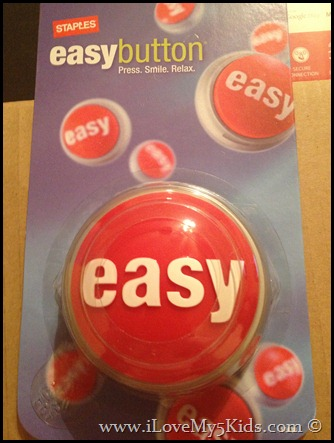 Staples Easy Button ilovemy5kids