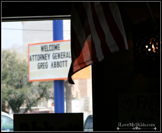 Attorney General Greg Abbott Field Trip