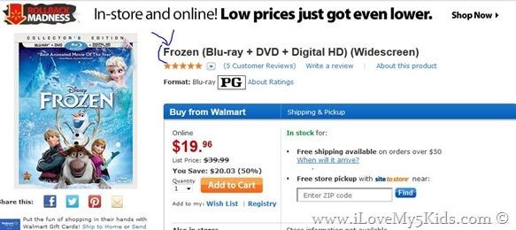 Frozen Walmart