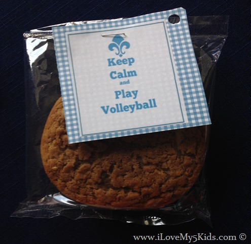 Keep Calm and Play Volleyball Snacks
