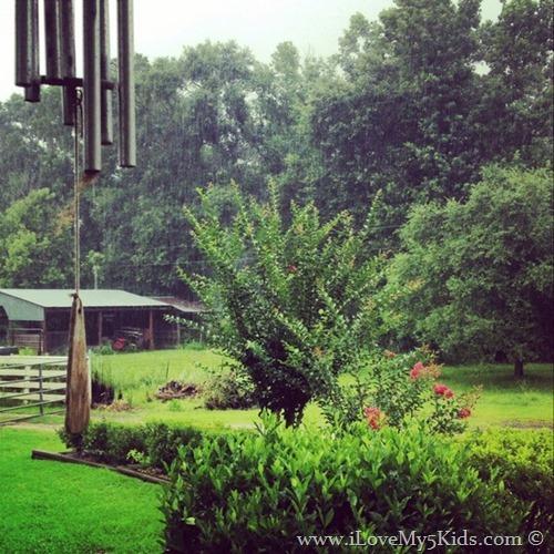 Raining at John Deere Grandmas