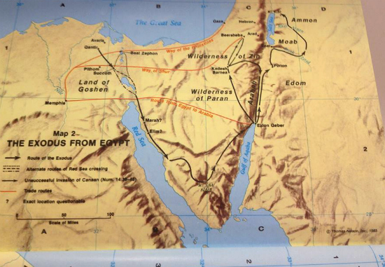 Exodus From Egypt Map