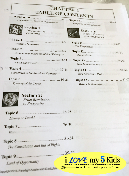 Principles and Precepts Table of Contents